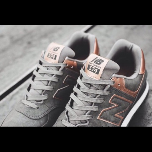 new balance gray and rose gold